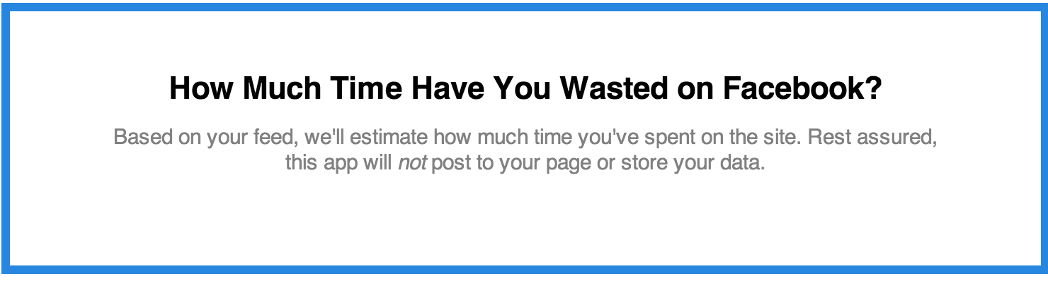 Facebook Time Machine: How Much Time Have You Wasted? | Time