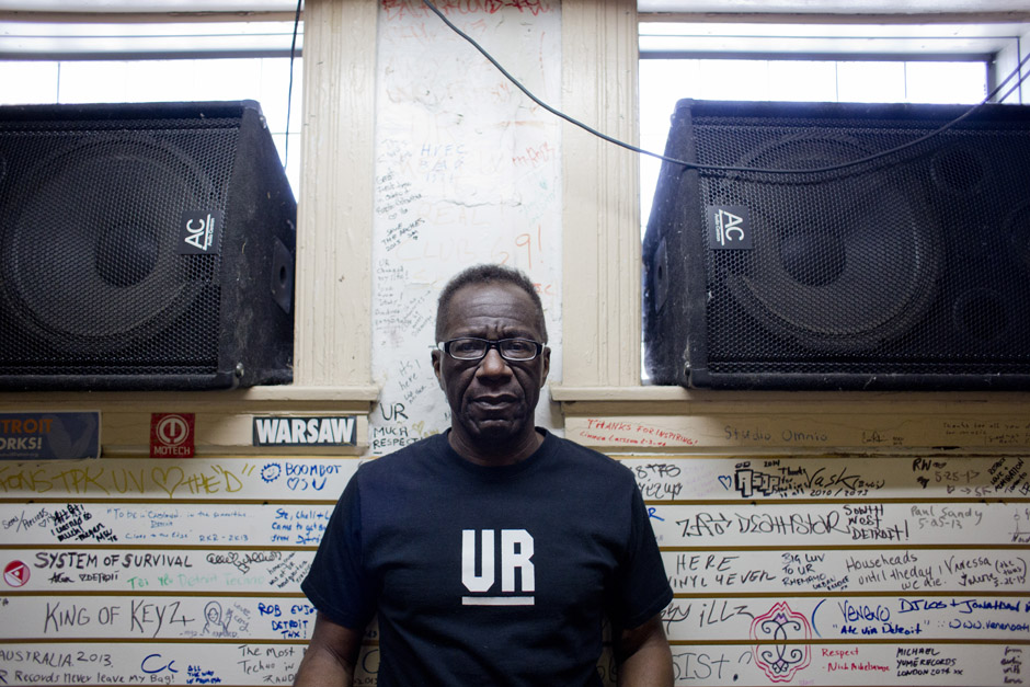 "John ""Jammin'"" Collins at Underground Resistance, a recording studio, shop and museum considered by many to be the birthplace of techno."